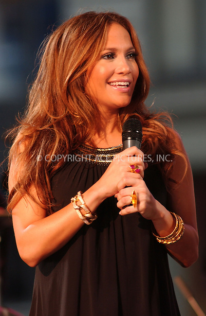 WWW.ACEPIXS.COM . . . . . ....October 9 2007, New York City....Singer Jennifer Lopez performed live in Times Square in midtown Manhattan for the TV show 'Good Morning America'.....Please byline: KRISTIN CALLAHAN - ACEPIXS.COM.. . . . . . ..Ace Pictures, Inc:  ..(646) 769 0430..e-mail: info@acepixs.com..web: http://www.acepixs.com