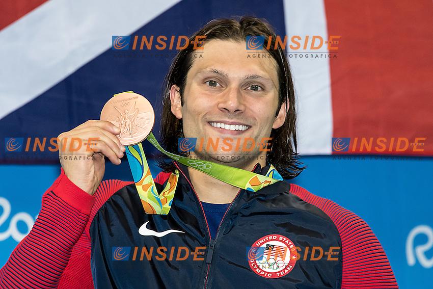 Miller Cody USA bronze medal<br /> 100 breaststroke men<br /> Rio de JaneiroXXXI Olympic Games <br /> Olympic Aquatics Stadium <br /> Swimming finals 07/08/2016<br /> Photo Giorgio Scala/Deepbluemedia/Insidefoto