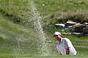 SERGIO GARCIA of the European Team in blasts from the bunker on the 17th green on wednesday practice prior to the 37th Ryder Cup Matches, September 16 -21, 2008 played at Valhalla Golf Club, Louisville, Kentucky, USA ( Picture by Phil Inglis ).... ......
