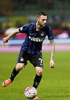 Calcio, Coppa Italia: semifinale di ritorno Inter vs Juventus. Milano, stadio San Siro, 2 marzo 2016. <br /> FC Inter&rsquo;s Marcelo Brozovic in action during the Italian Cup second leg semifinal football match between Inter and Juventus at Milan's San Siro stadium, 2 March 2016.<br /> UPDATE IMAGES PRESS/Isabella Bonotto