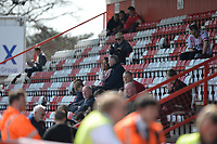 Stevenage fans during Stevenage vs Cambridge United, Sky Bet EFL League 2 Football at the Lamex Stadium on 14th April 2018