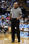 24 October 2014: Referee Bill Covington Jr. The University of North Carolina Tar Heels played the Fayetteville State University Broncos in an NCAA Division I Men's basketball exhibition game at the Dean E. Smith Center in Chapel Hill, North Carolina. UNC won the exhibition 111-58.