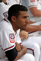 August 31, 2003:  Federico Baez of the Lansing Lugnuts, Class-A affiliate of the Chicago Cubs, during a Midwest League game at Oldsmobile Park in Lansing, MI.  Photo by:  Mike Janes/Four Seam Images