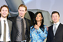 Taylor Kitsch, Alexander Skarsgard, Rihanna and Tadanobu Asano, Apr 03, 2012 : TOKYO, JAPAN - attends the 'Battleship' Japan Premiere at International Yoyogi first gymnasium on April 3, 2012 in Tokyo, Japan.