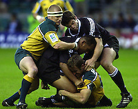 24/05/2002 (Friday).Sport -Rugby Union - London Sevens.New Zealand vs Australia.Tim Walsh  (headband)[Mandatory Credit, Peter Spurier/ Intersport Images].