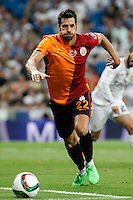 Galatasaray´s Hakan Balta during Santiago Bernabeu Trophy match at Santiago Bernabeu stadium in Madrid, Spain. August 18, 2015. (ALTERPHOTOS/Victor Blanco)