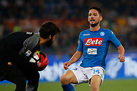 Dries Mertens  during the  italian serie a soccer match, AS Roma -  SSC Napoli       at  the Stadio Olimpico in Rome  Italy , 14 ottobre 2017