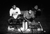 Sound technician students of the Music for Hope project rehearsing for a concert.<br />