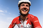 Adam De Vos (CAN) Rally Cycling at sign on before the start of Stage 1 of the Saudi Tour 2020 running 173km from Saudi Arabian Olympic Committee to Jaww, Saudi Arabia. 4th February 2020. <br /> Picture: ASO/Kåre Dehlie Thorstad | Cyclefile<br /> All photos usage must carry mandatory copyright credit (© Cyclefile | ASO/Kåre Dehlie Thorstad)
