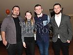 Killian Shevlin celebrating his 18th birthday in The Thatch with friends Dylan Kirwan, Paul Clarke and Leah Kirwan. Photo:Colin Bell/pressphotos.ie