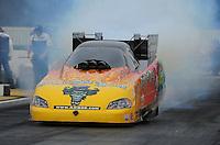 Nov. 10, 2011; Pomona, CA, USA; NHRA funny car driver Bob Bode during qualifying at the Auto Club Finals at Auto Club Raceway at Pomona. Mandatory Credit: Mark J. Rebilas-.
