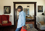 "Cicely Tyson tours the Horton Foote family home with Hallie Foote, Horton's daughter, to research and find inspiration for her upcoming role in ""The Trip to Bountiful"" in Wharton, Texas."