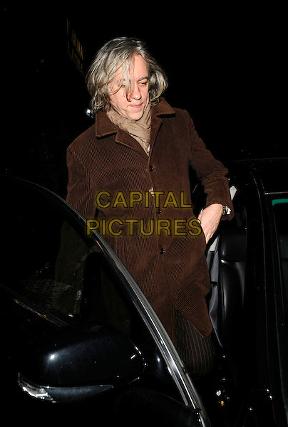 SIR BOB GELDOF.George Clooney gala dinner, L'Atelier de Joel Robuchon restaurant, London, England..April 7th, 2008.full length jacket brown coat scarf.CAP/CAN.©Can Nguyen/Capital Pictures.