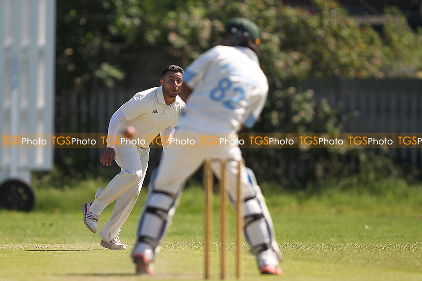O Khan of Barking during Newham CC vs Barking CC, Essex County League Cricket at Flanders Playing Fields on 10th June 2017