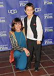 Elena Hazanov and Sacha Hazanov arriving at the 29th Santa Barbara International Film Festival which honored Cate Blanchett with the Outstanding Performer Of The Year. Held at the Arlington Theatre Santa Barbara, CA. on February 1, 2014.