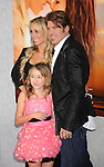 """HOLLYWOOD, CA. - March 25: Tish Cyrus, Noah Lindsey Cyrus, and Billy Ray Cyrus  arrive to """"The Last Song"""" Los Angeles Premiere at ArcLight Hollywood on March 25, 2010 in Hollywood, California."""