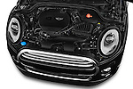 Car Stock 2015 MINI Mini Cooper 5 Door Hatchback 2WD Engine high angle detail view