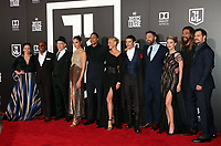 LOS ANGELES, CA - NOVEMBER 13: Diane Lane, Joe Morton, J. K. Simmons, Charles Roven, Producer, Gal Gadot, Ray Fisher, Connie Nielsen, Ezra Miller, Ben Affleck, Amber Heard, Deborah Snyder, Henry Cavill, Jason Momoa, at the Justice League film Premiere on November 13, 2017 at the Dolby Theatre in Los Angeles, California. Credit: Faye Sadou/MediaPunch /NortePhoto.com