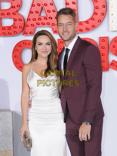 30 October  2017 - Westwood, California - Chrishell Stause, Justin Hartley. &quot;A Bad Moms Christmas&quot; Los Angeles Premiere held at Regency Village Theater in Westwood. Photo <br /> CAP/ADM/BT<br /> &copy;BT/ADM/Capital Pictures