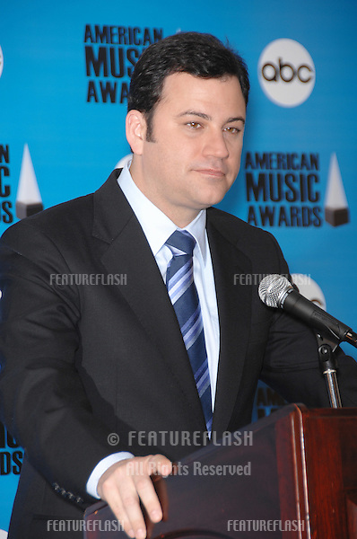 Jimmy Kimmel at the nominations annoucement for the 2007 American Music Awards which are to be presented at the Nokia Theatre in Los Angeles on November 18th..October 9, 2007  Los Angeles, CA.Picture: Paul Smith / Featureflash
