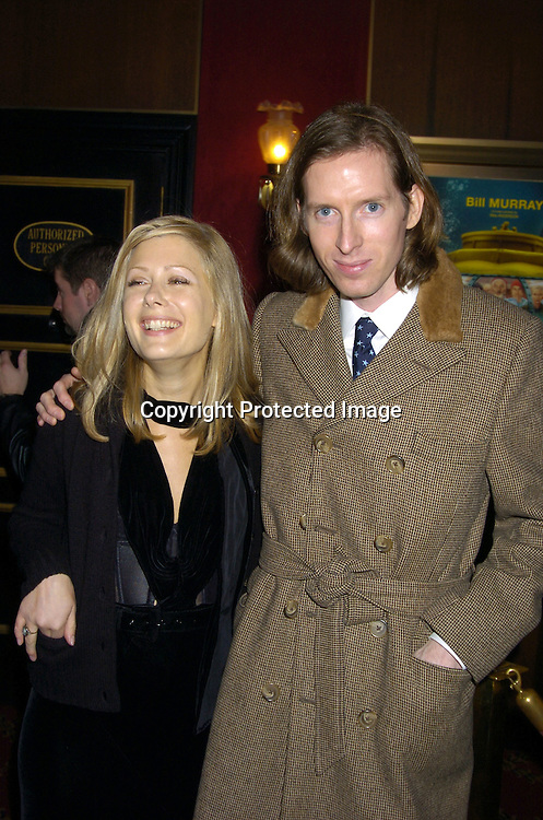 "Tara Subkoff and Wes Anderson ..at The World Premiere of ""The Life Aquatic with Steve Zissou""  on December 9, 2004 at The Ziegfeld Theatre. ..Photo by Robin Platzer, Twin Images"