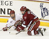 Caitlin Walsh (BC - 11), Marissa Gedman (Harvard - 16) - The Boston College Eagles defeated the visiting Harvard University Crimson 6-2 on Sunday, December 5, 2010, at Conte Forum in Chestnut Hill, Massachusetts.