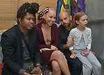 MIAMI, FL - MARCH 04: Monvelyno Precil, Riva Precil, David Belle and Olympia Belle sattend the after party to the Miami Film Festival screening for 'Serenade for Haiti' at Tap Tap Restaurant on March 4, 2017 in Miami, Florida. ( Photo by Johnny Louis / jlnphotography.com )