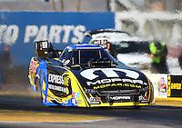 Feb 4, 2016; Chandler, AZ, USA; NHRA funny car driver Matt Hagan during pre season testing at Wild Horse Pass Motorsports Park. Mandatory Credit: Mark J. Rebilas-USA TODAY Sports