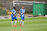 Tobias Kempe (SV Darmstadt 98) und Patric Pfeiffer (SV Darmstadt 98) - 27.08.2020: SV Darmstadt 98 Mannschaftsfoto, Stadion am Boellenfalltor, 2. Bundesliga, emonline, emspor<br /> <br /> DISCLAIMER: <br /> DFL regulations prohibit any use of photographs as image sequences and/or quasi-video.