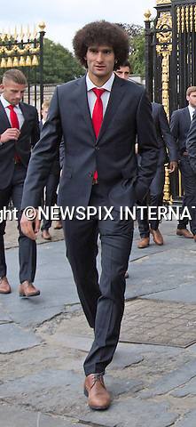MAROUANE FELLAINI<br /> QUEEN MATHILDE AND KING PHILIPP<br /> meet members of the Belgian World Cup Football Team at the Royal Palace, Brussels_08/07/2014<br /> Mandatory Credit Photo: &copy;NEWSPIX INTERNATIONAL<br /> <br /> **ALL FEES PAYABLE TO: &quot;NEWSPIX INTERNATIONAL&quot;**<br /> <br /> IMMEDIATE CONFIRMATION OF USAGE REQUIRED:<br /> Newspix International, 31 Chinnery Hill, Bishop's Stortford, ENGLAND CM23 3PS<br /> Tel:+441279 324672  ; Fax: +441279656877<br /> Mobile:  07775681153<br /> e-mail: info@newspixinternational.co.uk