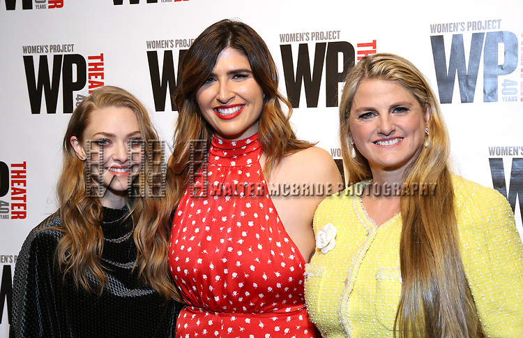 Amanda Seyfried, Emily Warren and Bonnie Comley attends the WP Theater's 40th Anniversary Gala -  Women of Achievement Awards at the Edison Hotel on April 15, 2019  in New York City.