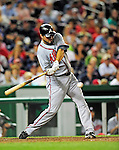 24 September 2010: Atlanta Braves infielder Troy Glaus in action against the Washington Nationals at Nationals Park in Washington, DC. The Nationals defeated the Braves 8-3 to take the first game of their 3-game series. Mandatory Credit: Ed Wolfstein Photo
