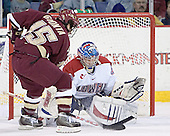 Stephen Gionta, Peter Vetri - The Boston College Eagles defeated the University of Massachusetts-Lowell River Hawks 4-3 in overtime on Saturday, January 28, 2006, at the Paul E. Tsongas Arena in Lowell, Massachusetts.