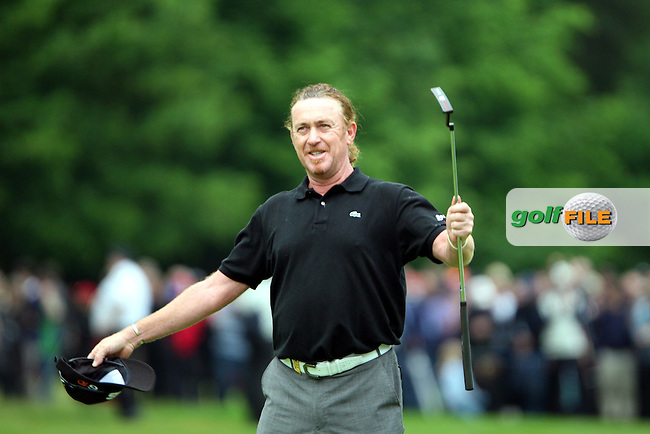 Miguel Angel Jimenez wins the playoff of the BMW PGA Championship at the Wentworth Club, Surrey, England - 25th May 2008 (Photo by Manus O'Reilly/GOLFFILE)