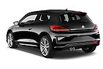 Car pictures of rear three quarter view of a 2015 Volkswagen SCIROCCO R 3 Door Hatchback 2WD Angular Rear