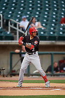 Chattanooga Lookouts Jose Siri (2) at bat during a Southern League game against the Birmingham Barons on May 1, 2019 at Regions Field in Birmingham, Alabama.  Chattanooga defeated Birmingham 5-0.  (Mike Janes/Four Seam Images)