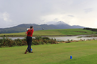Ronan Mahon (Westport) on the 15th during the Final of the Junior Cup in the AIG Cups & Shields Connacht Finals 2019 in Westport Golf Club, Westport, Co. Mayo on Thursday 8th August 2019.<br /> <br /> Picture:  Thos Caffrey / www.golffile.ie<br /> <br /> All photos usage must carry mandatory copyright credit (© Golffile | Thos Caffrey)