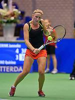 December 189 2014, Rotterdam, Topsport Centrum, Lotto NK Tennis, Lady's quarter final, Janneke Wikkeling (NED)  <br /> Photo: Tennisimages/Henk Koster