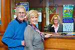 John and Barbara Doyle dealing with Emer Guinan in Kenmare Credit Union on Friday