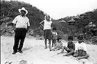 Local family, Mazunte, Oaxaca