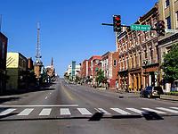 Early Sunday morning on Broadway Street in Nashville, TN.