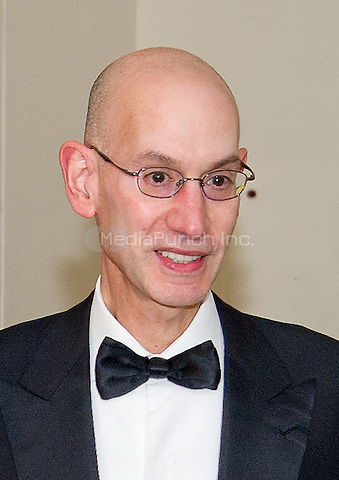 Adam Silver, Commissioner, National Basketball Association, arrives for the State Dinner in honor of Prime Minister Trudeau and Mrs. Sophie Gr&Egrave;goire Trudeau of Canada at the White House in Washington, DC on Thursday, March 10, 2016.<br /> Credit: Ron Sachs / Pool via CNP/MediaPunch