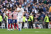 Real Madrid´s  Karim Benzema celebrates a goal during La Liga match. February 1, 2020. <br /> (ALTERPHOTOS/David Jar)<br /> 01/02/2020 <br /> Liga Spagna 2019/2020 <br /> Real Madrid - Atletico Madrid  <br /> Foto Alterphotos / Insidefoto <br /> ITALY ONLY