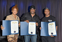 "LOS ANGELES, CA- FEB. 08: Medusa, Alonzo ""Lonzo"" Williams, Clientele at the From Compton to Cornell: Preserving The History of Hip Hop In the Hub City at the Grammy Museum in Los Angeles, California on February 8, 2018 Credit: Koi Sojer/ Snap'N U Photos/Media Punch"