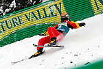 16 January 2009: Mengtao Xu from China takes a spill in aerial acrobatics during the FIS Freestyle World Cup warm-ups at the Olympic Ski Jumping Facility in Lake Placid, NY, USA. Mandatory Photo Credit: Ed Wolfstein Photo. Contact: Ed Wolfstein, Burlington, Vermont, USA. Telephone 802-864-8334. e-mail: ed@wolfstein.net