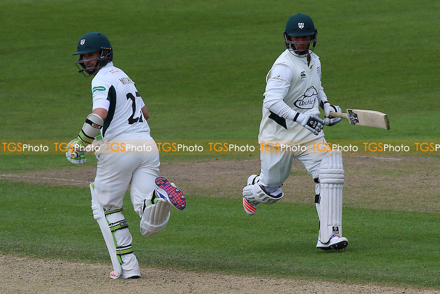 Daryl Mitchell (L) and Brett D'Oliveira enjoy a useful partnership for Worcestershire during Worcestershire CCC vs Essex CCC, Specsavers County Championship Division 2 Cricket at New Road on 3rd May 2016