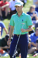 Justin Thomas (USA) on the 8th green during Saturday's Round 3 of the Waste Management Phoenix Open 2018 held on the TPC Scottsdale Stadium Course, Scottsdale, Arizona, USA. 3rd February 2018.<br /> Picture: Eoin Clarke | Golffile<br /> <br /> <br /> All photos usage must carry mandatory copyright credit (&copy; Golffile | Eoin Clarke)
