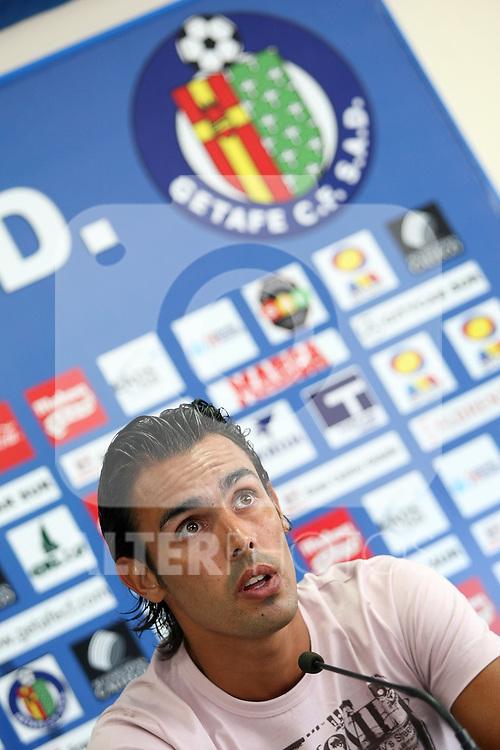 Getafe's new player Jordi Codina during his presentation.July 3 2009. (ALTERPHOTOS/Acero).
