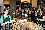3925-3950.Manageress Tara Duggan and the staff of Nosh+Coffee Killarney at it's re-opening on Wednesday morning l-r: Tara Duggan, Lauren Macindoe, Mags Corcoran, Aine Moynihan, Merissa Long and Jennifer Foster