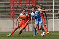 Bridgeview, IL - Saturday May 06, 2017: Amber Brooks, Sofia Huerta during a regular season National Women's Soccer League (NWSL) match between the Chicago Red Stars and the Houston Dash at Toyota Park. The Red Stars won 2-0.